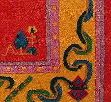 Border Detail of Tibetan Rug.
