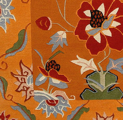 Detail from Floral Tibetan Rug.