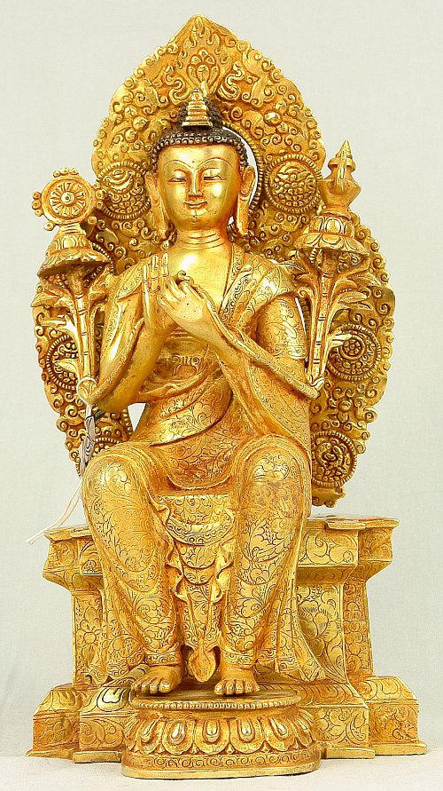 Maitrey Buddha in sitting position.