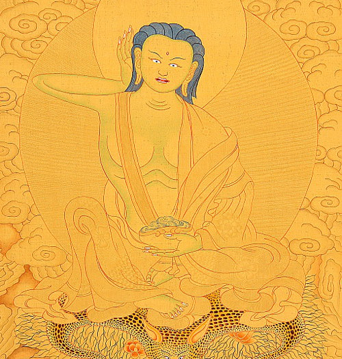 Milarepa - Detail from Thangka.
