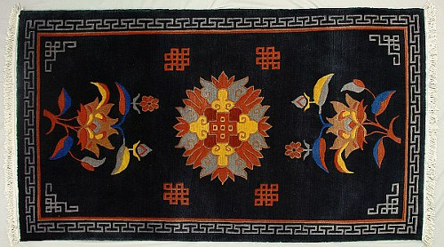 Tibetan carpet - floral design.