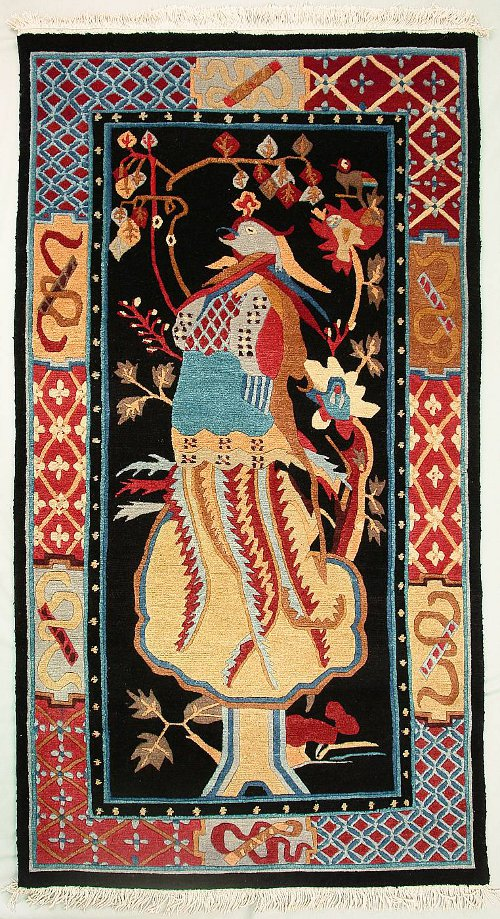 phoenix symbol in tibetan rugs - artelino