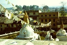 View from the stupa of Bodnath in Nepal.