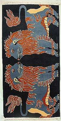 Two Snow Lions Rug.