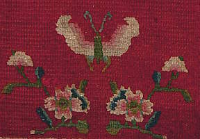 Butterfly Symbol on Tibetan rugs