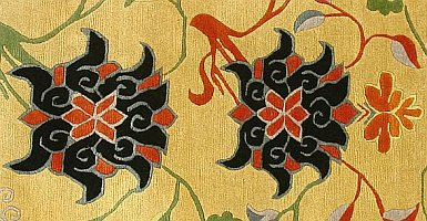 Detail from a Tibetan Floral Rug