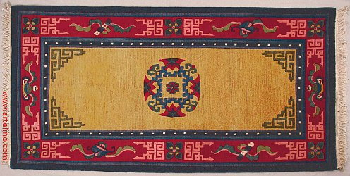 Single Medallion Tibetan Rug.