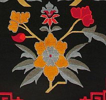 Lotus Flowers and Tibetan rugs