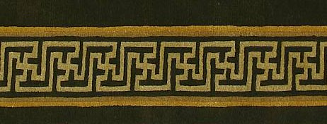 Swastika design symbol on Tibetan rugs.
