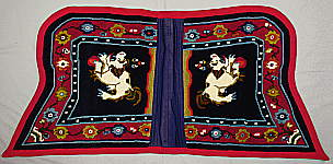 Tibetan Saddle Rug - lower part.