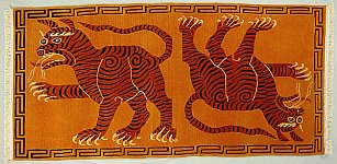 Traditional Tibetan Tiger Rug