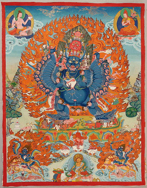 Yamantaka Thangka - 20th Century.