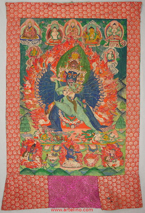 Yamantaka Thangka - 19th Centruy.