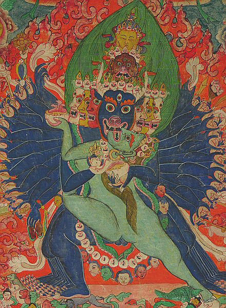 Yamantaka Thangka - Detail.