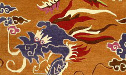 Dragon - detail from Tibetan rug