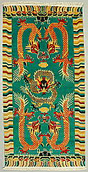Four Dragons - Tibetan Rug Design