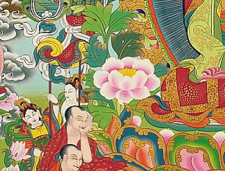 Buddha Life Thangka - in detail.