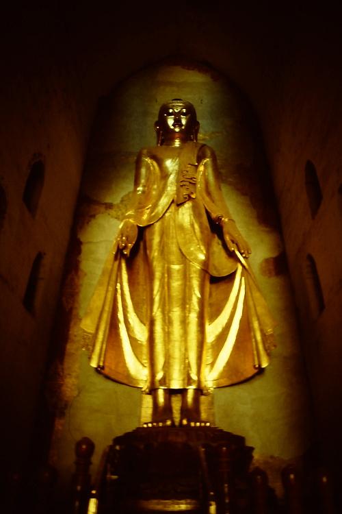 pagan-golden-statue-standing