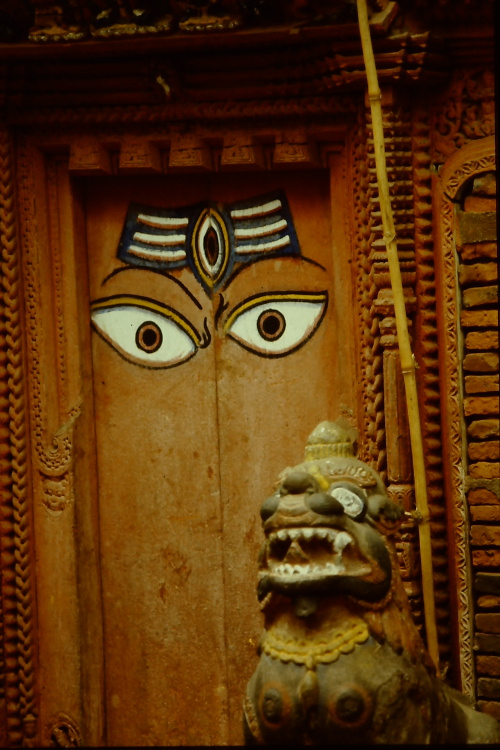 wooden-door-lion-guardian-patan